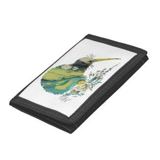 Kiwi Bird Art Trifold Wallets