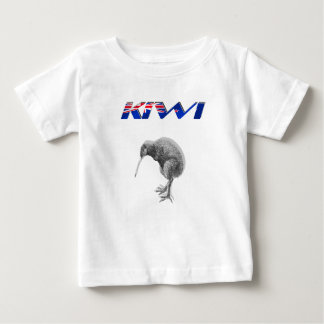 Kiwi Bird New Zealand flag logo gifts Baby T-Shirt