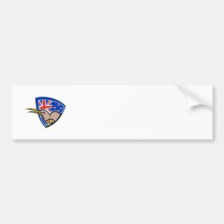 Kiwi Bird New Zealand Flag Shield Retro Bumper Sticker