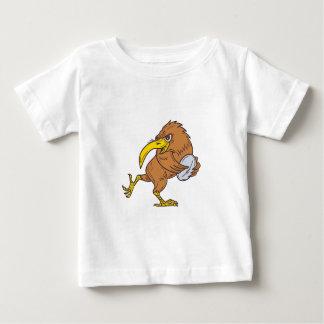 Kiwi Bird Running Rugby Ball Drawing Baby T-Shirt