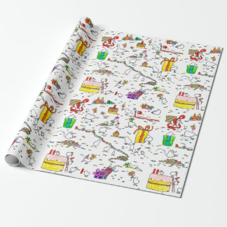 Kiwi Birthday Wrapping Paper by Nicole Janes