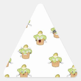kiwi cake triangle sticker
