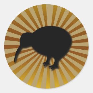 kiwi classic round sticker