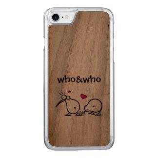 Kiwi Couple Carved iPhone 7 Case