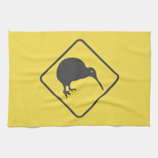 Kiwi Crossing Road Sign Kitchen Towel