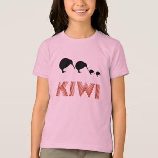 Kiwi Family Retro Graphic Kids Shirt Ringer