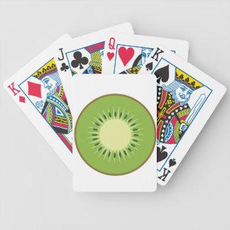 kiwi fruit bicycle playing cards