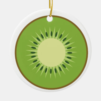 kiwi fruit ceramic ornament
