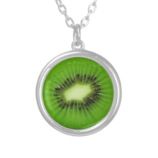 Kiwi Fruit Fresh Slice - Necklace