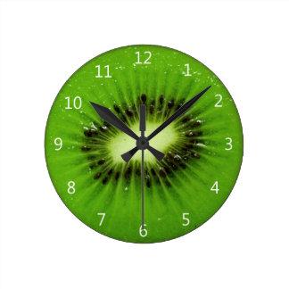 Kiwi Fruit Fresh Slice - Round Wall Clock