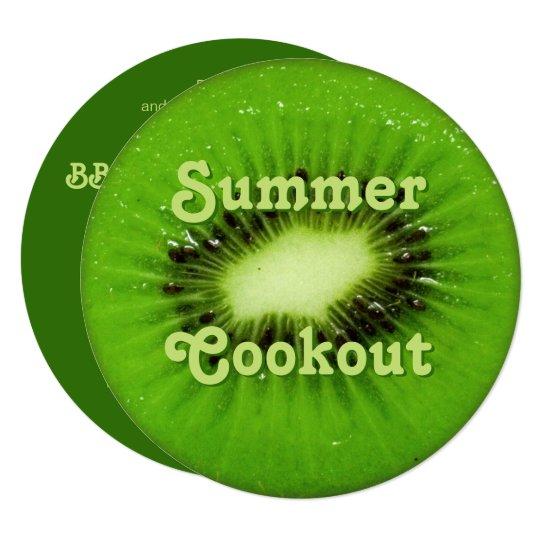 Kiwi Fruit Fresh Slice Summer Cookout Invitation