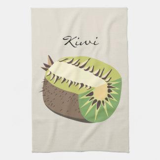 Kiwi fruit illustration kitchen towel