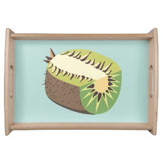 Kiwi fruit illustration serving tray