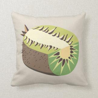Kiwi fruit illustration throw pillow
