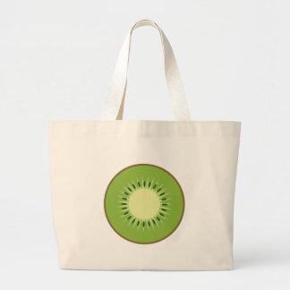 kiwi fruit large tote bag