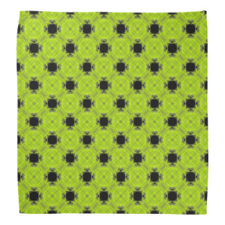 Kiwi Green And Black Vintage Pattern Bandana