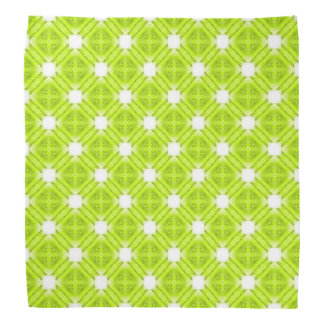Kiwi Green And White Geometric Bandana