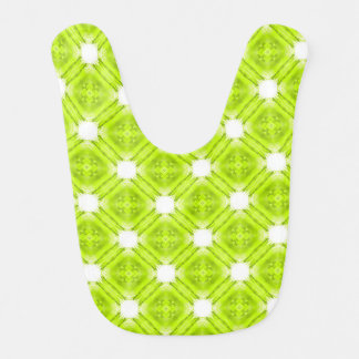 Kiwi Green And White Geometric Bibs