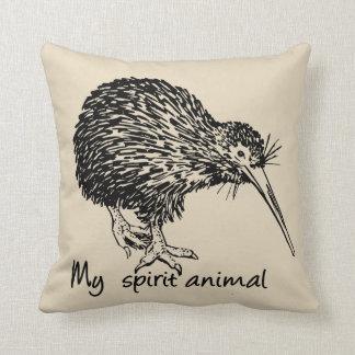 Kiwi is my spirit animal. throw pillow