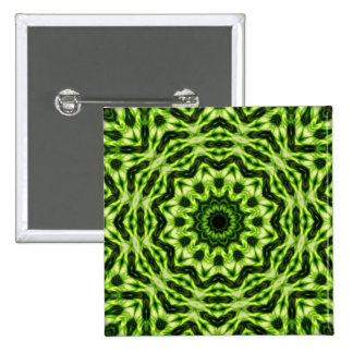 Kiwi Kaleidoscope 2 Inch Square Button