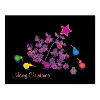 Kiwi: Merry Christmas Postcard
