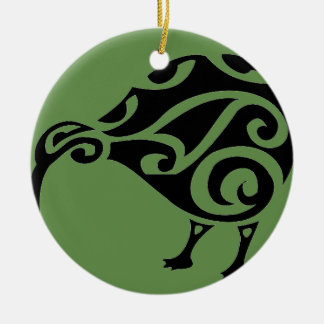 KIWI of AOTEAROA new zealand Ceramic Ornament