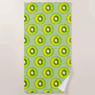 Kiwi Pattern Beach Towel
