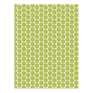 Kiwi pattern postcard