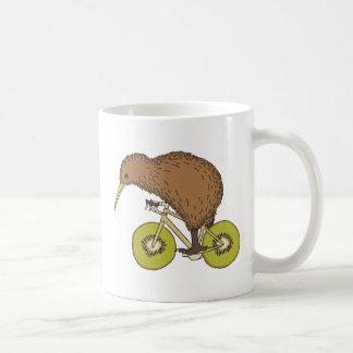 Kiwi Riding Bike With Kiwi Wheels Coffee Mug