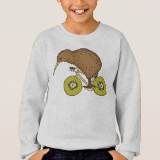 Kiwi Riding Bike With Kiwi Wheels Sweatshirt