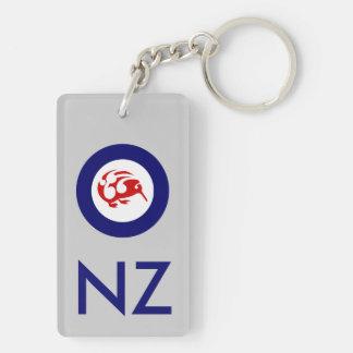 Kiwi Roundel Double-Sided Rectangular Acrylic Keychain