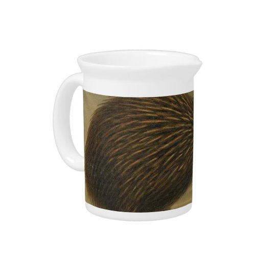 Kiwi Semi-Abstract Beverage Pitcher