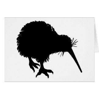 Kiwi Silhouette Card