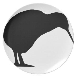 Kiwi Silhouette Dinner Plate