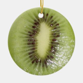 Kiwi Slice Ceramic Ornament