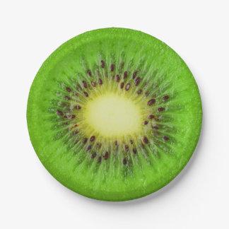 Kiwi slice paper plate