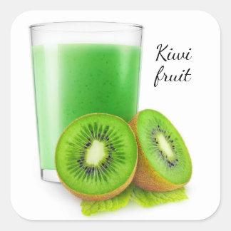 Kiwi smoothie square sticker