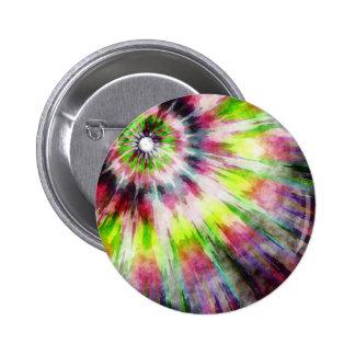 Kiwi Tie Dye Watercolor 2 Inch Round Button