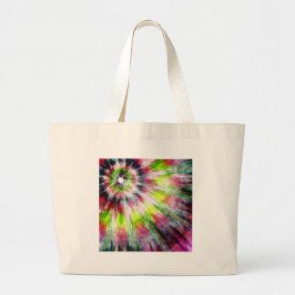 Kiwi Tie Dye Watercolor Large Tote Bag