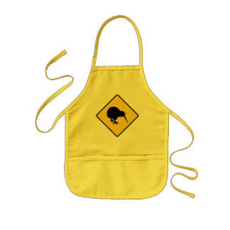 Kiwi Warning Kids Apron