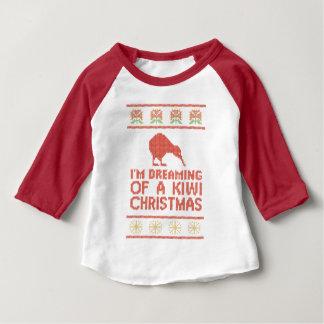 Kiwi Xmas Baby T-Shirt