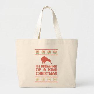 Kiwi Xmas Large Tote Bag