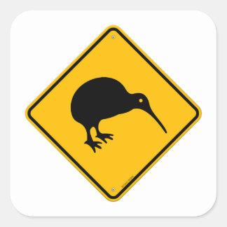 Kiwi Yellow Sign Square Sticker