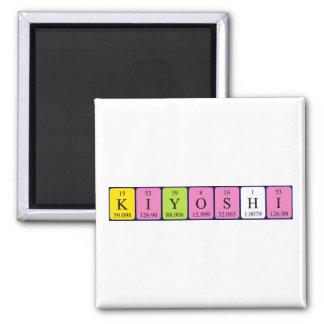 Kiyoshi periodic table name magnet