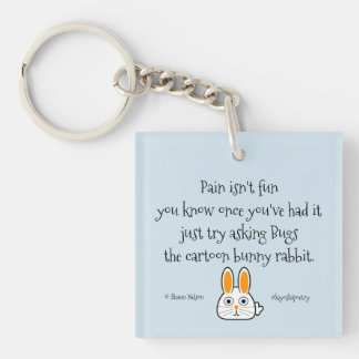 Kiyoshipoetry Bunny N' Tree Keychain
