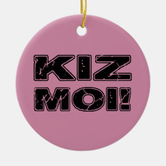 Kiz Moi! Kizomba French Ceramic Ornament
