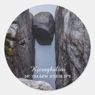Kjeragbolten Classic Round Sticker