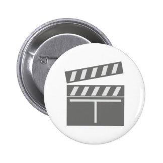 Klappe Filmklappe clapperboard Anstecknadelbuttons