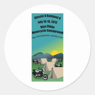 Klassic K Kampout 2012 Classic Round Sticker