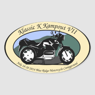 Klassic K Kampout VII Oval Sticker